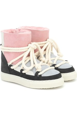 INUIKII Kids Ankle Boots Patchwork aus Veloursleder