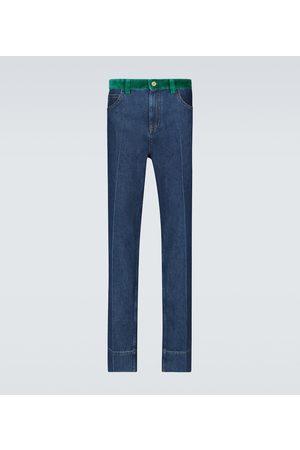 WALES BONNER Herren Straight - Straight Jeans Dub Contrast