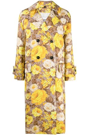 MSGM Floral pattern trench coat