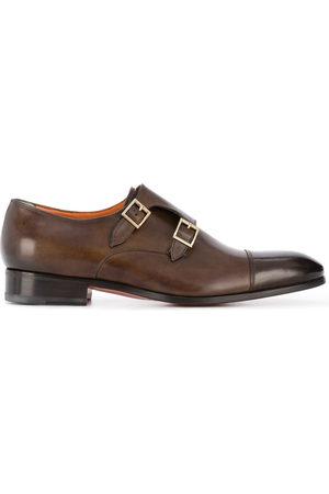santoni Herren Elegante Schuhe - Double-buckle leather shoes