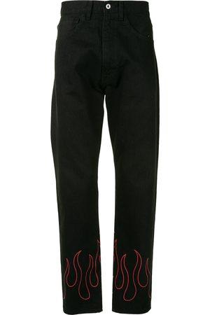 A Bathing Ape Flame-print straight-leg jeans
