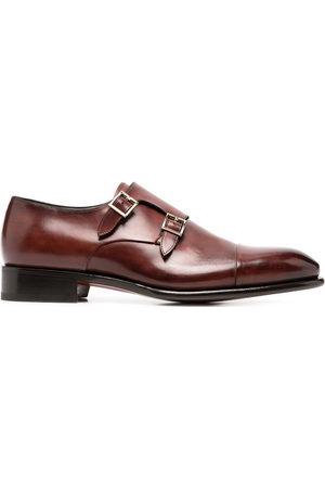 santoni Polished monk shoes