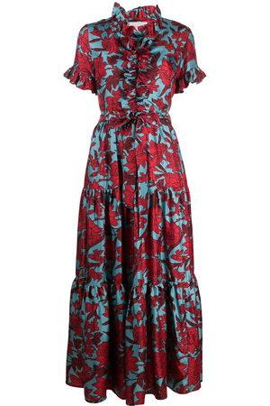 La DoubleJ Damen Freizeitkleider - Long and Sassy floral ruffle dress