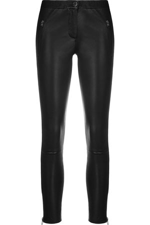 arma leder Fitted biker leggings