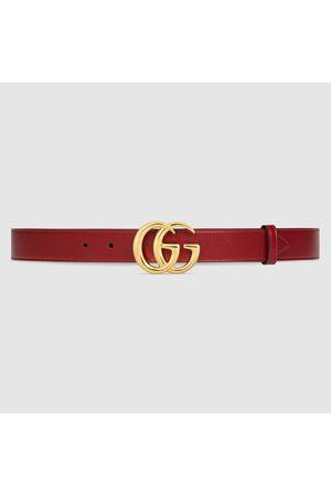 Gucci GG Marmont Gürtel mit glänzender Schnalle