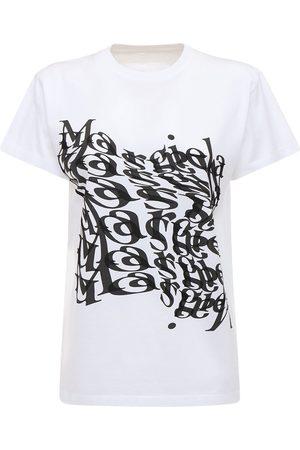 Maison Margiela T-shirt Aus Baumwolljersey Mit Logodruck