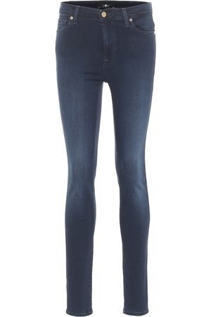7 for all Mankind High-Rise Skinny Jeans Slim Illusion Luxe