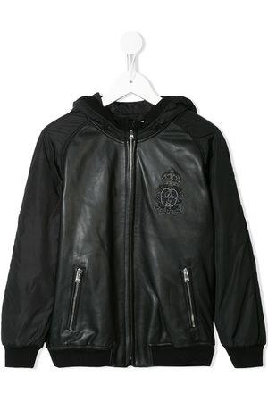 Dolce & Gabbana Jungen Sommerjacken - Logo patch hooded bomber jacket