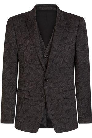 Dolce & Gabbana Floral jacquard martini suit