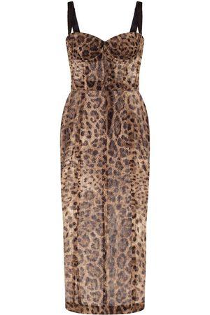 Dolce & Gabbana Leopard-print bustier dress