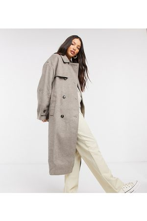 ASOS ASOS DESIGN Tall brushed twill trench coat in