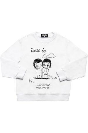 Dsquared2 Damen Sweatshirts - Sweatshirt Aus Baumwolle Mit Druck