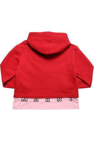 Marni Damen Sweatshirts - Hoodie Aus Baumwollfleece Mit Zipper