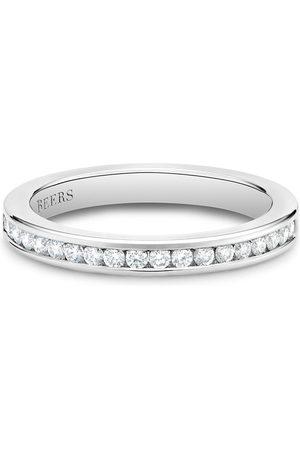 De Beers Platinum channel-set half eternity diamond band ring