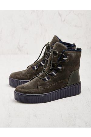 Deerberg Damen Stiefeletten - Damen Stiefeletten Bukola oliv Boots