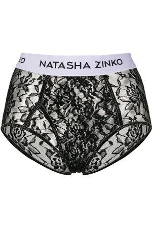 Natasha Zinko Lace logo briefs