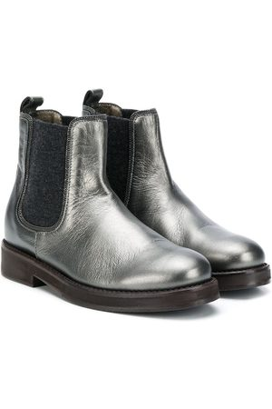 Brunello Cucinelli Cracked-effect ankle boots