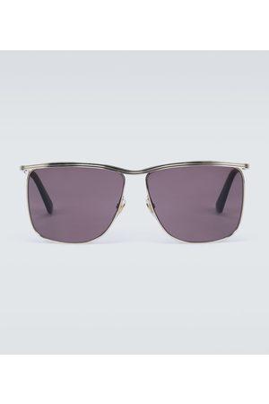 Gucci Eckige Sonnenbrille aus Metall