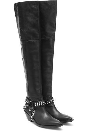 JUNYA WATANABE Overknee-Stiefel aus Leder