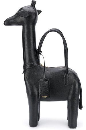 Thom Browne Giraffe pebbled leather tote bag