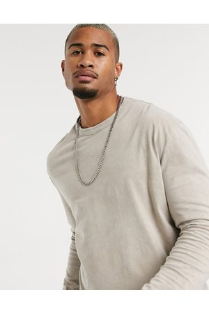 ASOS Relaxed long sleeve t-shirt with acid wash