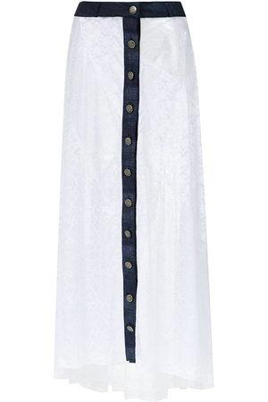 AMIR SLAMA Damen Maxiröcke - Long lace skirt
