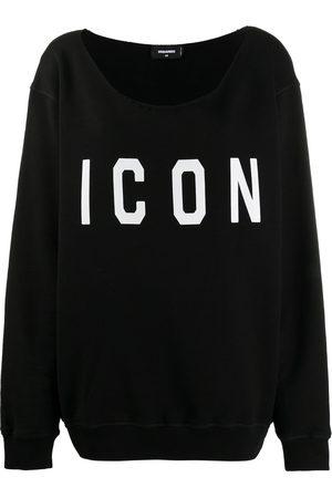 Dsquared2 One-shoulder logo-print sweatshirt