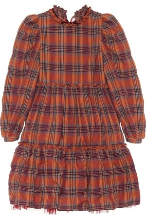 Il gufo Kariertes Kleid aus Baumwolle