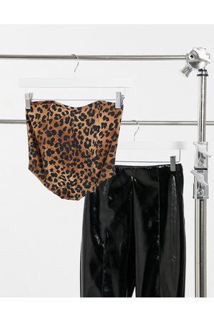 ASOS Hourglass bandeau corset in animal print