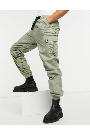 ASOS Tapered cargo joggers with ruching detail