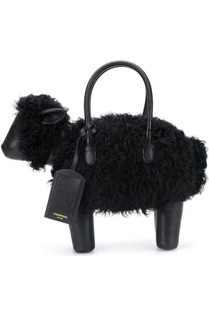 Thom Browne Sheep pebbled leather tote bag
