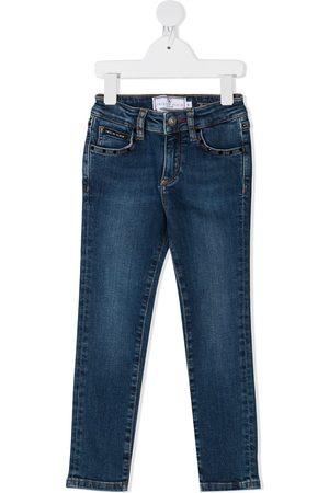 Philipp Plein Mädchen Jeans - Hexagon-logo slim fit jeans