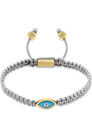 Nialaya Gold plated eye weave bracelet