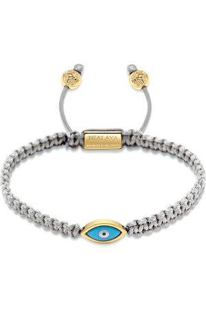 Nialaya Herren Armbänder - Gold plated eye weave bracelet