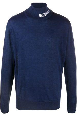 GCDS Embroidered logo rib-trimmed jumper
