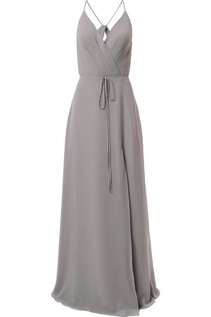 Marchesa Notte Bridesmaids V-neck tie waist evening gown