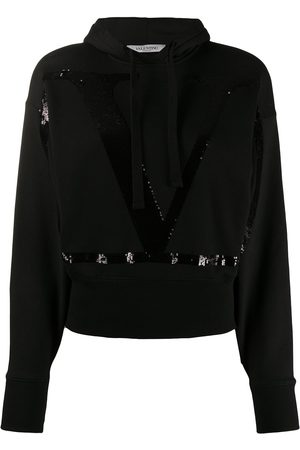 VALENTINO Sequinned-VLOGO hoodie