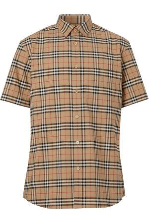 Burberry Herren Kurze Ärmel - Check print short-sleeve shirt