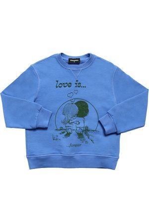 Dsquared2 Sweatshirt Aus Baumwolle Mit Druck