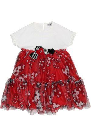 MONNALISA Kleid aus Jersey und Tüll