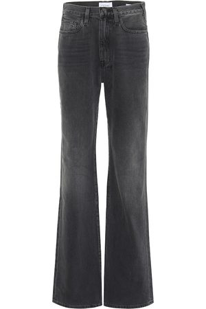 Frame High-Rise Straight Jeans Le Jane