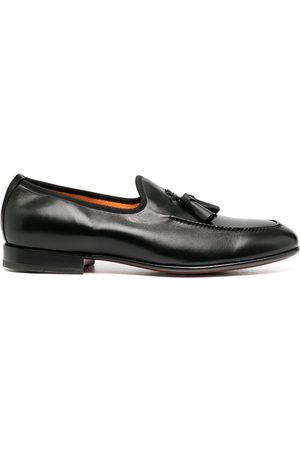 santoni Tasseled leather loafers