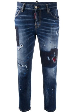 Dsquared2 Distressed-effect cropped denim jeans