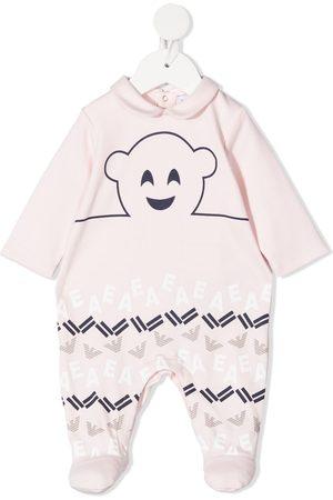 Emporio Armani Schlafanzüge - Logo-print cotton pajama