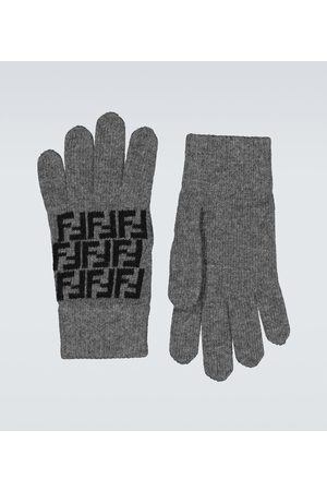 Fendi Handschuhe FF aus Wolle