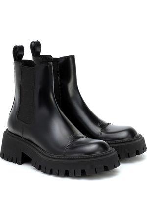 Balenciaga Damen Stiefeletten - Chelsea Boots Tractor aus Leder