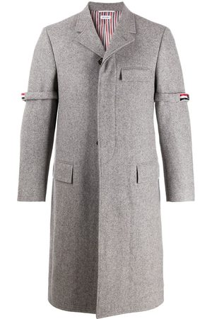 Thom Browne Removable-grosgrain armband Chesterfield overcoat
