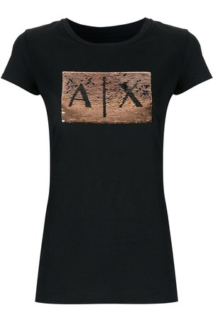 Armani Sequin-embellished crew-neck T-shirt