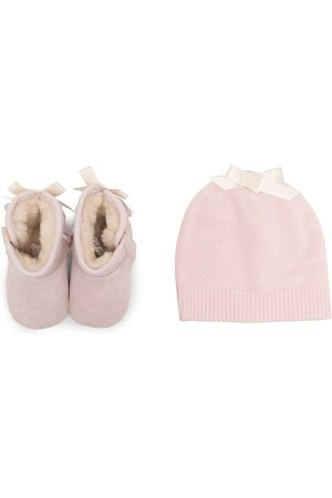 UGG Outfit Sets - Lace-detail pre-walker and beanie set