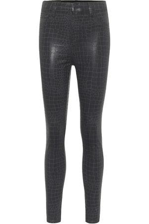 J Brand Beschichtete Skinny Jeans Leenah
